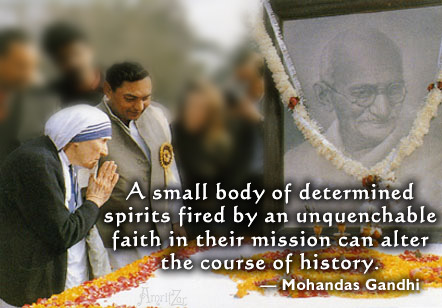 gandhi quotes on peace. Ghandi and Mother Teresa